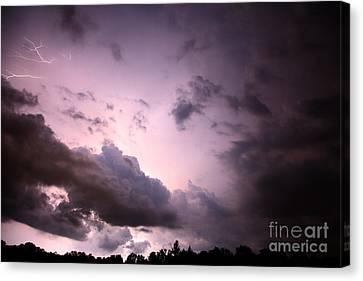 Night Storm Canvas Print by Amanda Barcon