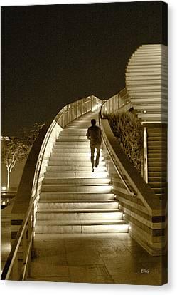 Night Time Stairway Canvas Print by Ben and Raisa Gertsberg