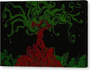 Night Tree Canvas Print by David and Lynn Keller