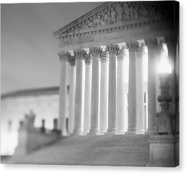 Night Us Supreme Court Washington Dc Canvas Print by Panoramic Images
