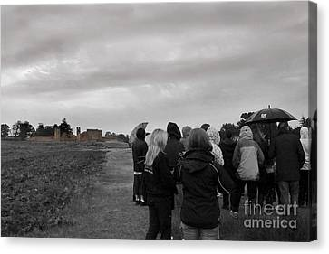 Night Vision Ghost Story In Bradgate Park. Canvas Print by Linsey Williams