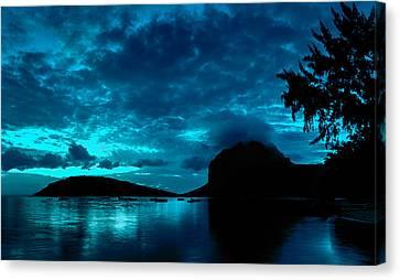 Nightfall In Mauritius Canvas Print by Julian Cook