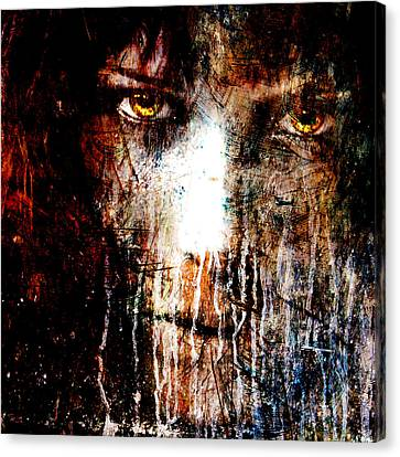 Night Eyes Canvas Print by Marian Voicu