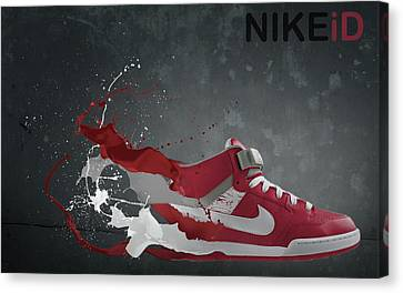 Nike Id Canvas Print by Tom  Layland