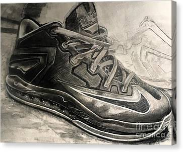 Nike Lebron 10 Low Volt Olive Canvas Print by Gary Reising