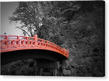 Nikko Red Bridge Canvas Print by Naxart Studio