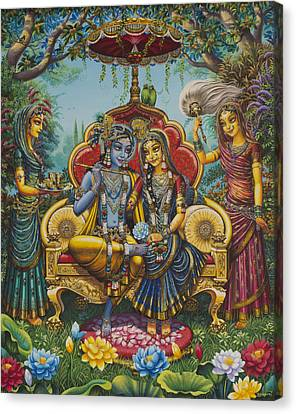 Nikunj Rasa Canvas Print by Vrindavan Das