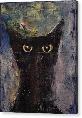 Ninja Cat Canvas Print by Michael Creese