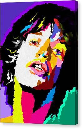 Mick Jagger Poster Canvas Print featuring the painting Nixo Mick Jagger 01 by Nixolas Nixo
