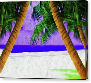 Nixolas Beach 02 Canvas Print by Nixo Nixolas