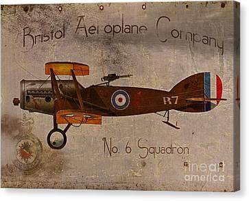 No. 6 Squadron Bristol Aeroplane Company Canvas Print by Cinema Photography
