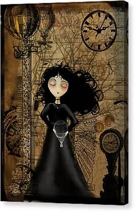 No Fear Of Flying Canvas Print by Charlene Zatloukal
