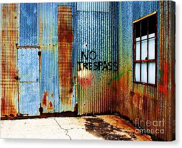 No Trespass Canvas Print by Ronnie Glover