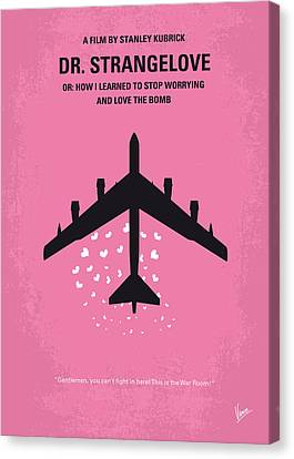 No025 My Dr Strangelove Minimal Movie Poster Canvas Print by Chungkong Art