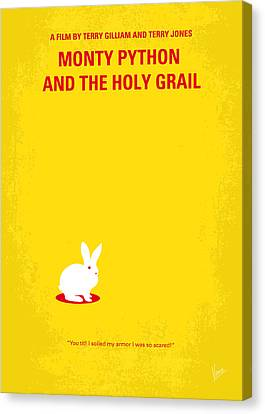 No036 My Monty Python And The Holy Grail Minimal Movie Poster Canvas Print by Chungkong Art
