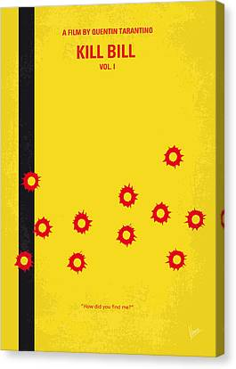 No048 My Kill Bill -part 1 Minimal Movie Poster Canvas Print by Chungkong Art