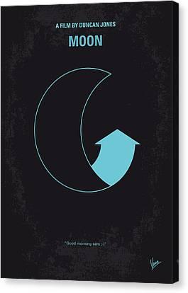 No053 My Moon 2009 Minimal Movie Poster Canvas Print by Chungkong Art