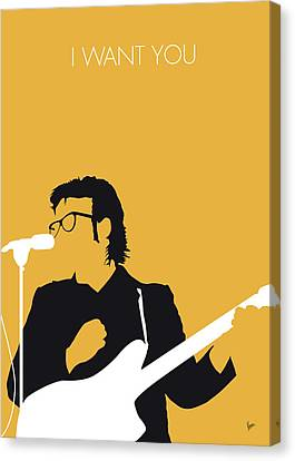 No067 My Elvis Costello Minimal Music Poster Canvas Print by Chungkong Art