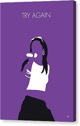 No071 My Aaliyah Minimal Music Poster Canvas Print by Chungkong Art