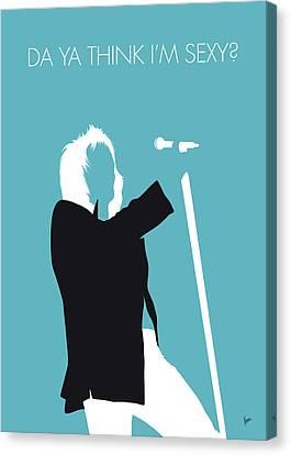 No075 My Rod Stewart Minimal Music Poster Canvas Print by Chungkong Art