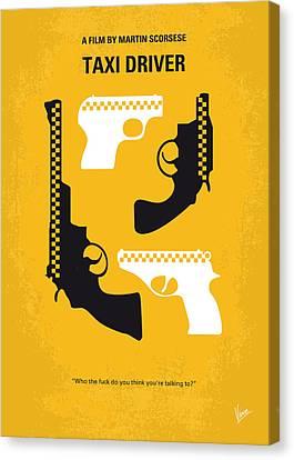 No087 My Taxi Driver Minimal Movie Poster Canvas Print by Chungkong Art