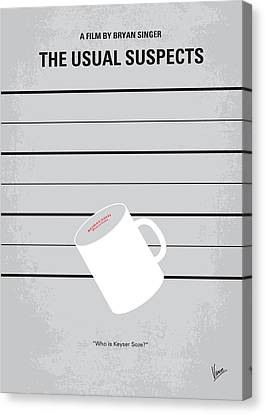 No095 My The Usual Suspects Minimal Movie Poster Canvas Print by Chungkong Art