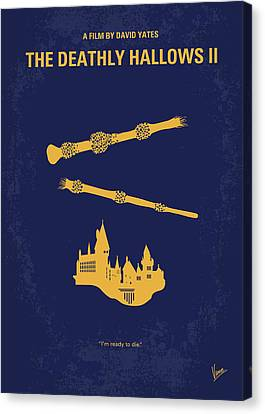 No101-8 My Hp - Deathly Hallows II Minimal Movie Poster Canvas Print by Chungkong Art