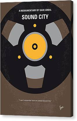 No181 My Sound City Minimal Movie Poster Canvas Print by Chungkong Art