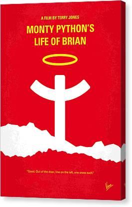 No182 My Monty Python Life Of Brian Minimal Movie Poster Canvas Print by Chungkong Art
