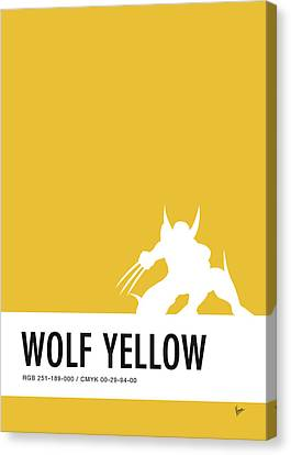 No21 My Minimal Color Code Poster Wolverine Canvas Print by Chungkong Art