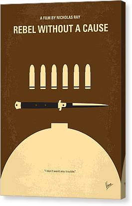No318 My Rebel Without A Cause Minimal Movie Poster Canvas Print by Chungkong Art