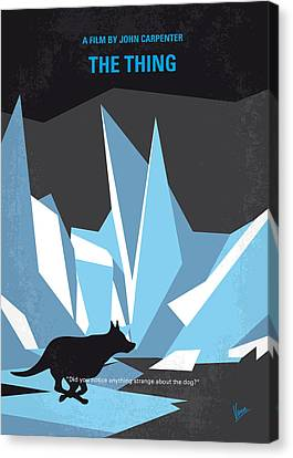 No466 My The Thing Minimal Movie Poster Canvas Print by Chungkong Art