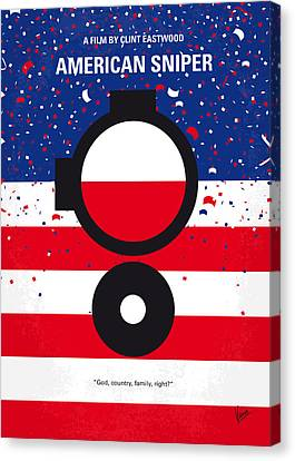 No435 My American Sniper Minimal Movie Poster Canvas Print by Chungkong Art