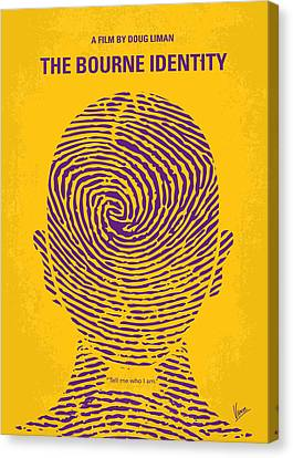 No439 My The Bourne Identity Minimal Movie Poster Canvas Print by Chungkong Art