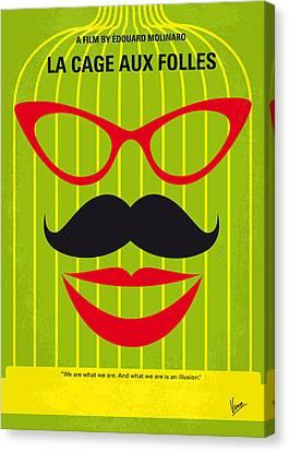 No473 My La Cage Aux Folles Minimal Movie Poster Canvas Print by Chungkong Art