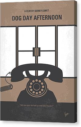 No479 My Dog Day Afternoon Minimal Movie Poster Canvas Print by Chungkong Art