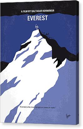 No492 My Everest Minimal Movie Poster Canvas Print by Chungkong Art