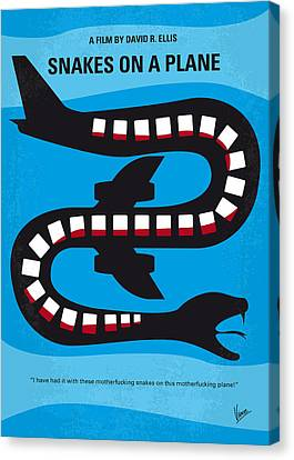 No501 My Snakes On A Plane Minimal Movie Poster Canvas Print by Chungkong Art