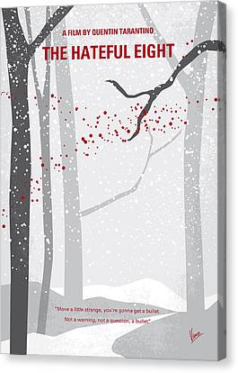 No502 My Hateful Eight Minimal Movie Poster Canvas Print by Chungkong Art