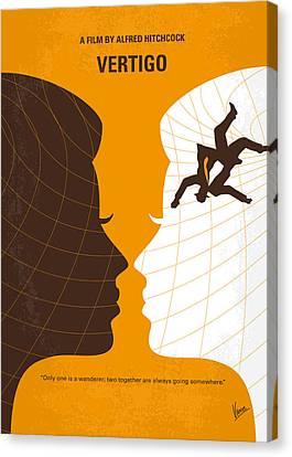 No510 My Vertigo Minimal Movie Poster Canvas Print by Chungkong Art
