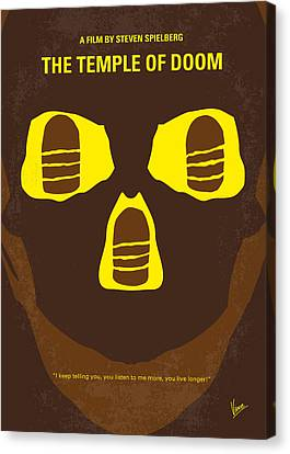 No517 My The Temple Of Doom Minimal Movie Poster Canvas Print by Chungkong Art