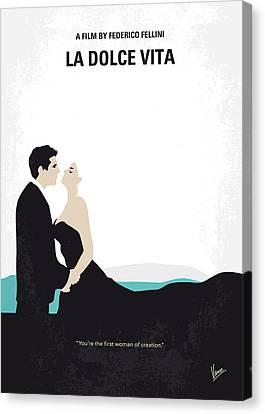 No529 My La Dolce Vita Minimal Movie Poster Canvas Print by Chungkong Art