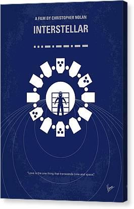 No532 My Interstellar Minimal Movie Poster Canvas Print by Chungkong Art