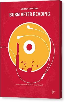 No547 My Burn After Reading Minimal Movie Poster Canvas Print by Chungkong Art