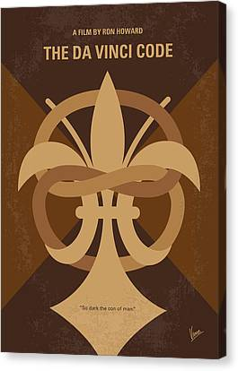 No548 My Da Vinci Code Minimal Movie Poster Canvas Print by Chungkong Art