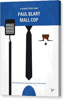 No579 My Paul Blart Mall Cop Minimal Movie Poster Canvas Print by Chungkong Art