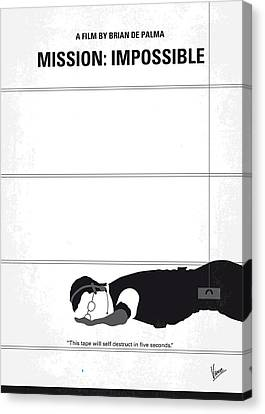 No583 My Mission Impossible Minimal Movie Poster Canvas Print by Chungkong Art