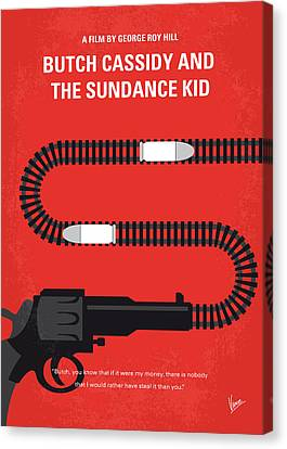 No585 My Butch Cassidy And The Sundance Kid Minimal Movie Poster Canvas Print by Chungkong Art