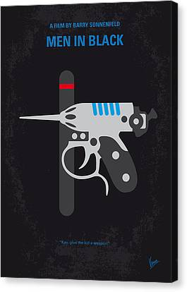 No586 My Men In Black Minimal Movie Poster Canvas Print by Chungkong Art