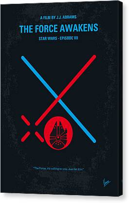 No591 My Star Wars Episode Vii The Force Awakens Minimal Movie Poster Canvas Print by Chungkong Art